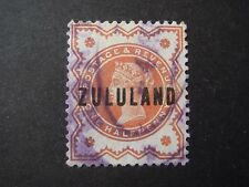 Zululand - Q.Victoria Great Britain Stamp overprinted for use in Zululand