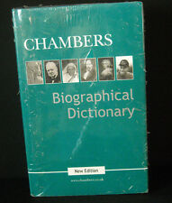 "*NEW FACTORY SEALED* ""Chambers Biographical Dictionary"" Una McGovern 2002 HC/DJ"