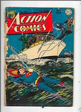action comic #123 1st time superman flying in comics,1948,awesome
