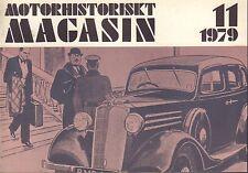 Motorhistoriskt Magasin Swedish Car Magazine 11 1979 Vauxhall 032717nonDBE