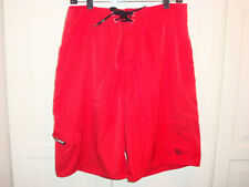 Da Hui Board Shorts Red Sz 34