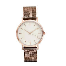 UK Women's Men's Classic Wrist Watch Stainless Steel Strap Quartz Casual Watches