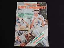Mon Tricot Magazine Knit & Crochet 1976 Patterns Knitting Afghan Poncho 1970s