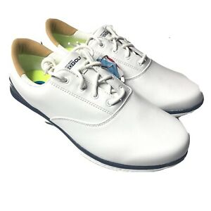 Skechers Go Golf LDS Shoes White Blue Waterproof Women's 10 New