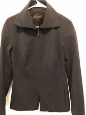 Ladies ESCADA BLACK ZIP FRONT JACKET SIZE 36 EUC Wool Blend