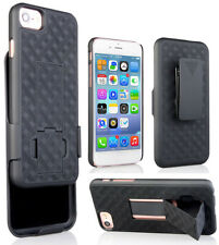 Black Case Kickstand Cover and Belt Clip Holster Holder Combo for iPhone SE 2020