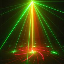 18Muster Laserlicht LED Grün Rot Blau Bühnenbeleuchtung Show DJ Atmosphärenlicht