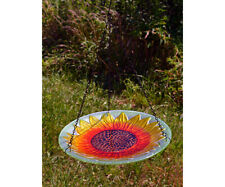 Bird Baths Sunflower Glass Hanging Bird Bath Se5053