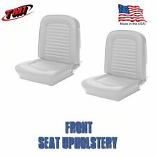 1964 &1965 Mustang Front Bucket Seat Upholstery White Vinyl  by TMI-IN STOCK!!