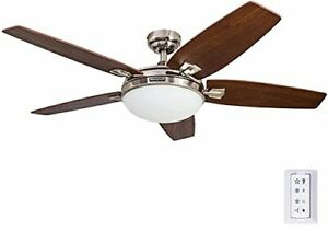 Honeywell Carmel 48-Inch Ceiling Fan with Integrated Light Kit and Remote Con...