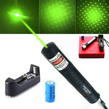 New Powerful 532nm Green Beam JD851 Laser Pointer 16340 Rechargeable Battery