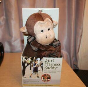 EDDIE BAUER 2 in 1 Animal Harness Buddy Backpack - Monkey Cute Travel #52866