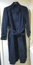 Escalier Women's Wool Trench Coat Winter Double-Breasted Jacket with Belts XL