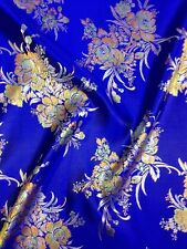 Brocade Chinese floral blossom oriental asian  Fabric