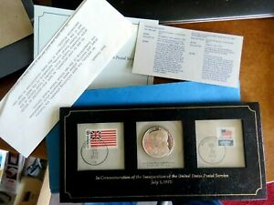 SILVER PROOF MEDAL 1971 JULY INAUGURATION OF THE UNITED STATES POSTAL SERVICE