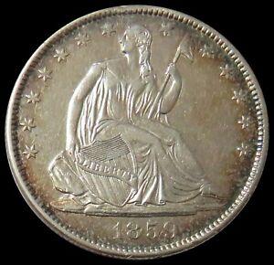 1859 O SILVER UNITED STATES SEATED LIBERTY HALF DOLLAR