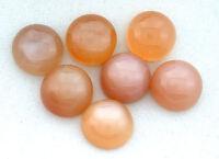 ONE 11mm Round Natural Peach Moonstone Cab Cabochon Gem Stone Gemstone B24A82
