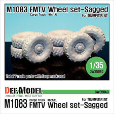 DEF.MODEL,US M1083 FMTV Truck Mich.XL Sagged Wheel set (for Trumpeter), DW35040