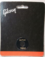 GIBSON Black Toggle Switch Washer Ring Gold Letters Les Paul Guitar Parts 3 Way