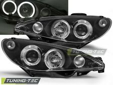 Headlights For PEUGEOT 206 10.98-02 ANGEL EYES BLACK..