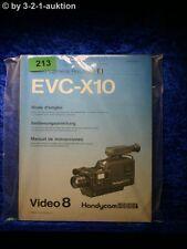 Sony manual de instrucciones EVC x10 video 8 Handicam 2006i (#0213)