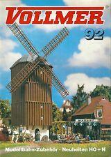 Catalogue VOLLMER 1992 Modélisme ferroviaire gare batiment industriel catalog