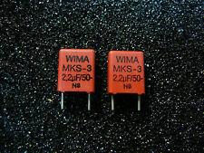 Wima MKS-3 2.2uF 50V Metallized Polyester Capacitor **NEW** 2/PKG