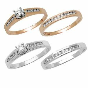 Diamond Engagement & Wedding Bands - Bridal Sets in 9ct White or 9ct Yellow Gold