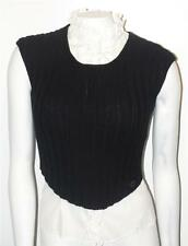 CHANEL~DESIGNER~99A~WOOL~SIGNATURE~KNIT SWEATER VEST~FASHION CROPPED TOP TANK~40
