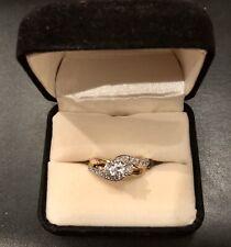 Past Present Future® 1 CT. T.W. Diamond Wedding Engagement Ring in 14K Yellow