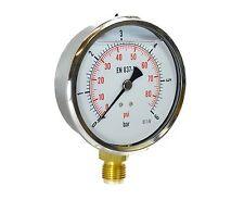 Manometro, misuratore di pressione, bagno glicerina, antivibrante diametro 100mm