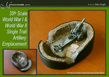 """1/35th scale Artillery emplacement pit """"single trail artillery"""" WWI or WWII"""