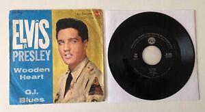 """45 GIRI 7"""" RCA ITALIANA 1961 ITALY ELVIS PRESLEY WOODEN HEART / G.I. BLUES"""