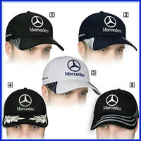 Mercedes Benz Baseball Cap 3D EMBROIDERED Logo Auto Hat Mens Womens Accessories