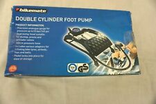 BIKEMATE DOUBLE CYLINDER FOOT PUMP BOXED - UNUSED