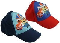 Boys Cap Baseball Despicable Me Minions Summer London Sun Hat 3 to 12 Years