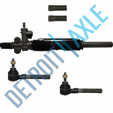 Power Steering Rack & Pinion With Sensor Port + New Outer Tie Rod End Links