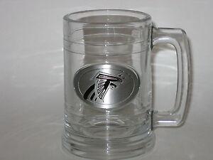Atlanta Falcons 15 ounce Glass Tankard Mug with Pewter Logo FREE S&H!!