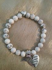 Pet Memorial Stone Bead Bracelet - Pet Loss Sympathy Bereavement Gift