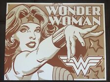 Vintage Wonder Woman Black/White Retro DC Comic TIN SIGN metal Size: 12x16