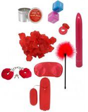 Kit sex toys con vibratore vaginale anale anello fallico per pene manette frusta