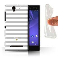Étuis, housses et coques argentés Sony Xperia L en silicone, caoutchouc, gel pour téléphone mobile et assistant personnel (PDA)