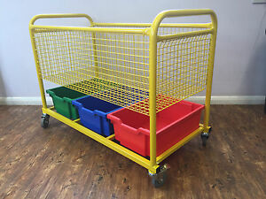 PE Equipment trolley with trays ideal for schools nurserys and childminders