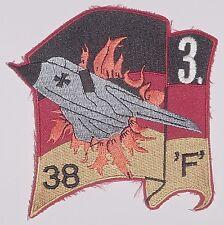 """Aufnäher Patch Luftwaffe 3. Staffel JaBog 38 """"F"""" Tornado .........A5050"""