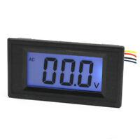 Voltimetro medicion voltaje pantalla LCD montaje en panel AC 0-200V D8I9