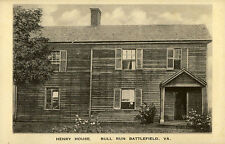 1922 MANASSAS VA Bull Run Battlefield Henry House Civil War postcard