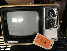 "1970s VINTAGE ANTIQUE MONTGOMERY WARD TV TELEVISION KSA12202A PORTABLE ""T1106"""