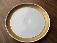 """STRONG ENCRUSTED GOLD RING RIM ROYAL WORCESTER CHINA 9"""" PLATE 1957 J51 X"""