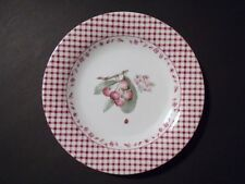 NEW Pfaltzgraff DELICIOUS Soft Burgundy Red CHERRY Salad Plate Transferware