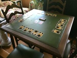 Stakmore vintage 1950s mid-century card table and chairs